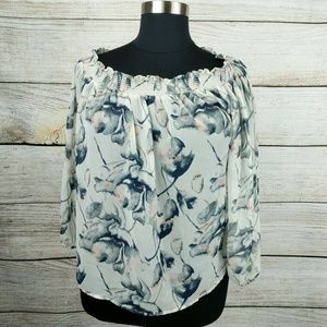 Jeans By Buffalo Chiffon Blouse 3/4 Sleeve Jeans